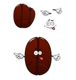 Cartoon brown coffee bean charcater vector image vector image