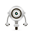 Cartoon Character Cute Robot vector image
