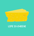 cartoon piece of cheese vector image