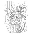 christmas coloring page vector image