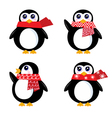 christmas retro penguin vector image
