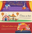 Circus Announcements Horizontal Banners Set vector image vector image