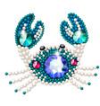 crab figurine made precious stones in form vector image vector image