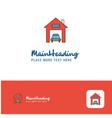 creative house garage logo design flat color logo vector image