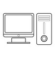 desktop computer icon image vector image vector image