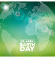 earth day with abstract stripe vector image