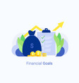 financial goals and success concept vector image