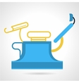 Flat color icon for gynecology equipment vector image vector image