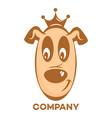 funny dog logo vector image