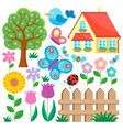 garden theme collection 1 vector image