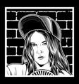 girls wearing hat vector image vector image