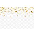 gold confetti celebration carnival falling shiny vector image vector image