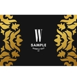 Golden Luxurious Logo Frame and Monogram Golden vector image