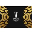 golden luxurious logo frame and monogram vector image