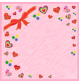 Greeting postcard on pink vector image vector image