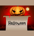 halloween pumpkinhalloween card vector image vector image