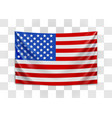 hanging flag usa united states america vector image