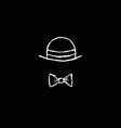 Hat and Bow Tie vector image