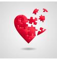 heart broken vector image vector image