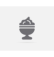 Ice Cream Dessert Dish or Cup Element or Icon vector image vector image
