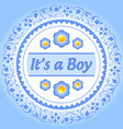 Its a boy ornament vector image vector image