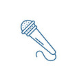 microphone line icon concept microphone flat vector image vector image