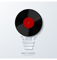modern concept light bulb and vinil vector image