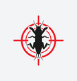 mole cricket icon red target vector image vector image