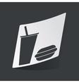 Monochrome fast food sticker vector image