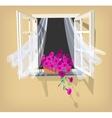 Open window vector image vector image