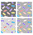 patterns 80s skateboard vector image vector image