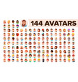 people avatar set man woman human vector image vector image