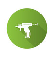 piercing gun flat design long shadow glyph icon vector image vector image