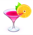 pink cocktail vector image vector image