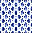 porcelain pattern with leaf vector image vector image