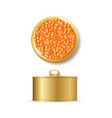 realistic detailed 3d red caviar can set vector image vector image