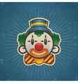 Retro Birthday Clown vector image vector image