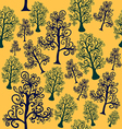 seamless pattern of imaginative trees vector image vector image