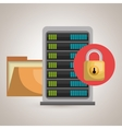 server file folder lock vector image