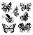 set decor butterflies vector image vector image