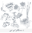 set of flowers 2 vector image vector image