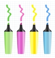 Set of realistic colored markers vector image