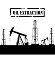 Silhouette of oil derrick vector image vector image