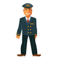 smiling pilot in uniform vector image