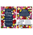spring holiday party invitation with flower frame vector image