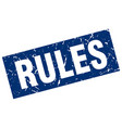 square grunge blue rules stamp vector image vector image
