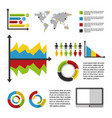 statistics data business vector image vector image