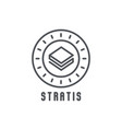 stratis thin line icon modern vector image vector image