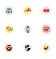 Subculture youth icons set pop-art style vector image vector image