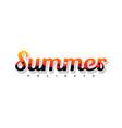 summer holidays beach sign symbol vector image vector image